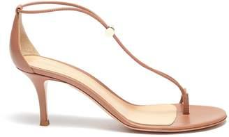 Gianvito Rossi Toe ring toggle leather strap sandals
