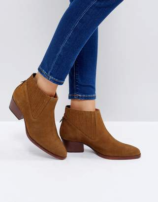 H By Hudson Hudson London Ernest Tan Suede Flat Ankle Boots
