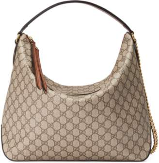 Gucci Signature large hobo bag