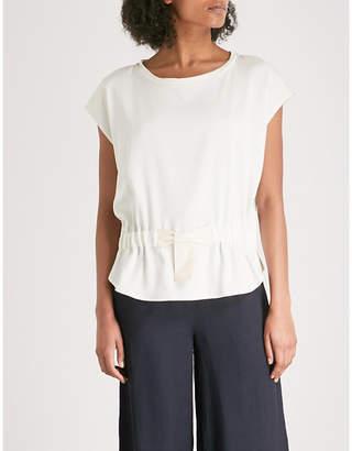 Claudie Pierlot Bow waist linen top