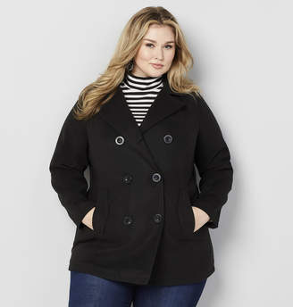 Avenue Wool Peacoat with Removable Hood
