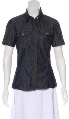 Dolce & Gabbana Short Sleeve Denim Top
