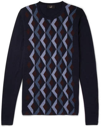 Dunhill Wool And Mulberry Silk-Blend Sweater