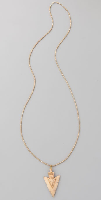 Vanessa Mooney Bone Arrowhead Pendant Necklace