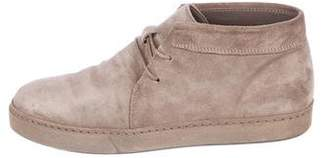 Vince Suede Round-Toe Booties