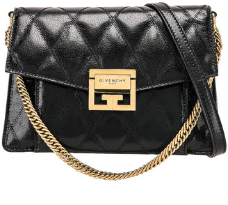 Givenchy Small Quilted Leather GV3 in Black | FWRD