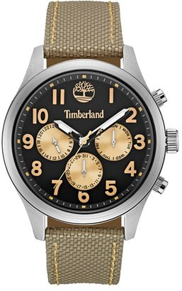 Timberland 'Rollins' Multifunction Nylon Strap Watch, 54mm $179 thestylecure.com