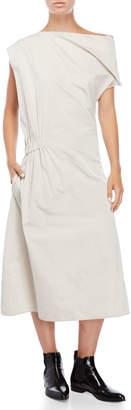 Jil Sander Grey Asymmetrical Structured Dress