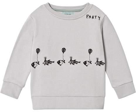 One We Like Vapour Grey Fish Party Basic Sweatshirt