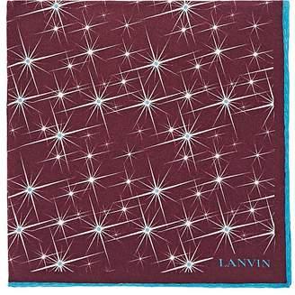 Lanvin Men's Star-Motif Silk Crêpe De Chine Pocket Square