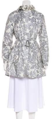 Tory Burch Floral Print Raincoat