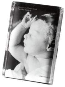 Simon Pearce Woodbury Square Vertical Photo Block Gift Set, 4 x 6