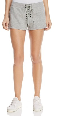 PAM & GELA Lace-Up Sweat Shorts $125 thestylecure.com