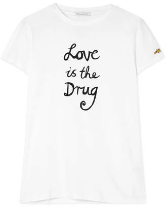 Bella Freud Love Is The Drug Printed Cotton-jersey T-shirt - White