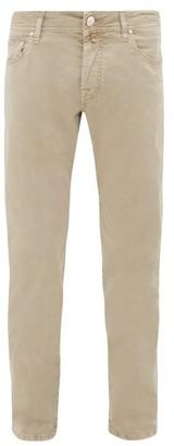 Jacob Cohen Mid Rise Slim Leg Trousers - Mens - Beige
