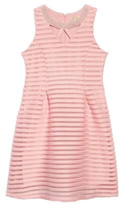 Couture Monteau Laser Cut Scuba Dress