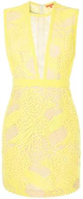 Manning Cartell embroidered fitted mini dress