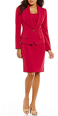 Albert Nipon Stretch Crepe Peplum Dress Suit $395 thestylecure.com