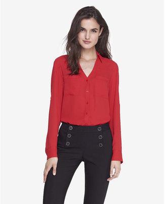 Express Slim Fit Convertible Sleeve Portofino Shirt $49.90 thestylecure.com