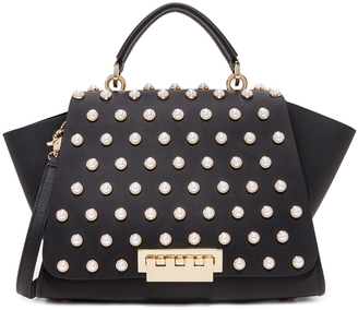 ZAC Zac Posen Eartha Imitation Pearl Lady Soft Top Handle Bag $550 thestylecure.com