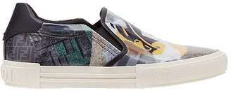 Fendi printed slip-on sneakers