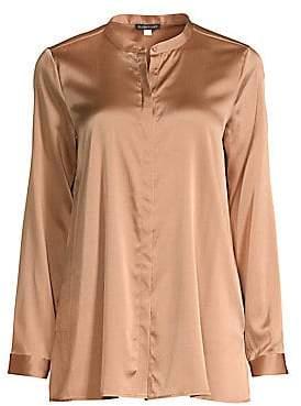 3c3f3ec0fd4 Eileen Fisher Women's Mandarin Collar Shirt