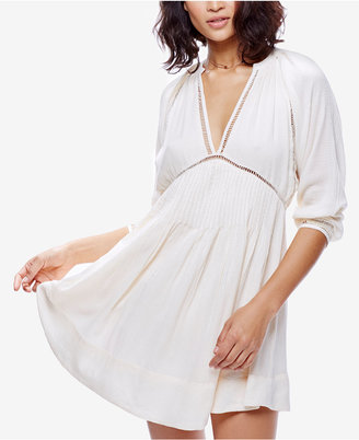 Free People Deep V-Neck Mini Dress $128 thestylecure.com