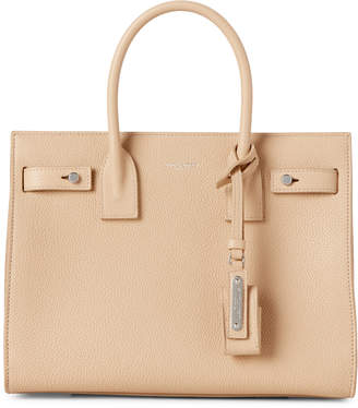 Saint Laurent Nude Powder Baby Sac De Jour Leather Tote