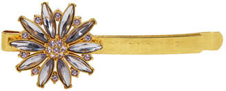 Versace Gold and Purple Crystal Flower Barette