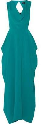 Alice + Olivia Gretchen Draped Crepe Gown