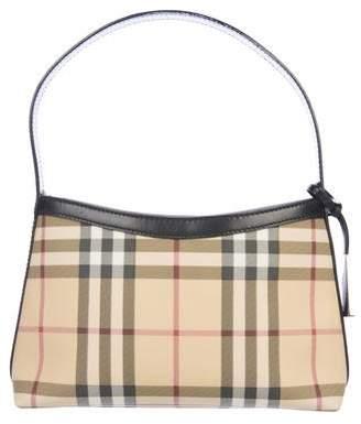 Burberry Leather-Trimmed Nova Check Bag