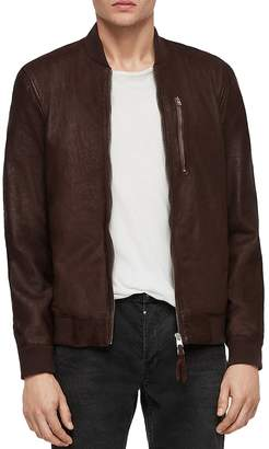 Kino Leather Regular Fit Bomber Jacket