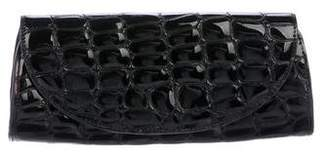 Eric Javits Embossed Leather Clutch