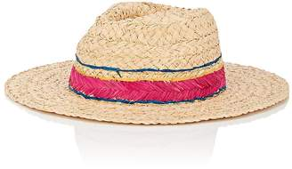 Barneys New York WOMEN'S STITCHED-BAND RAFFIA HAT