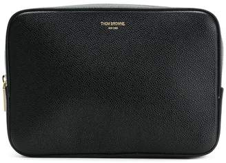 Thom Browne Seamed Panel Pebble Grain Leather Wash Bag