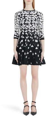 Valentino Bucaneve Jacquard Sweater Dress