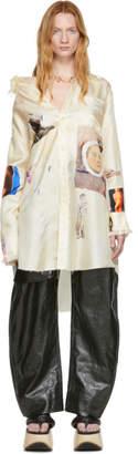 Marni Off-White Silk Opi Print Shirt