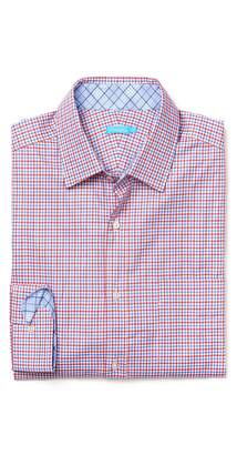J.Mclaughlin Gramercy Classic Fit Shirt in Tattersall Check