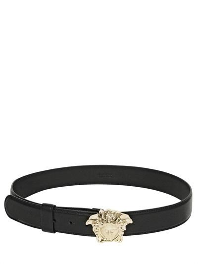 Versace 40mm Medusa Buckle Leather Belt