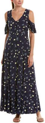 Cotton Candy Cold-Shoulder Maxi Dress