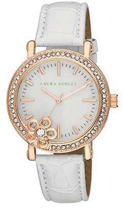 Laura Ashley Women's LA31013WT Analog Display Japanese Quartz White Watch $34.99 thestylecure.com