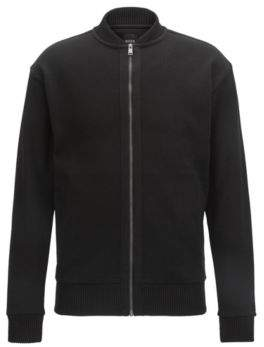 BOSS Hugo Cotton Full-Zip Jacket Skiles S Black