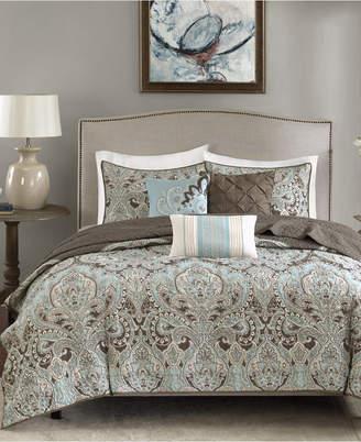 Madison Park Geneva 6-Pc. Quilted King/California King Coverlet Set Bedding