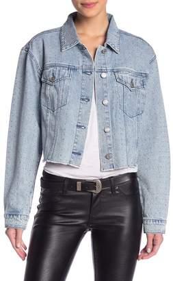 Skinnygirl Smoothers & Shapers Rhinestone Cropped Denim Jacket