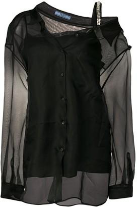 Prada double layer silk shirt