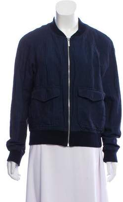 Michael Kors Chambray Bomber Jacket