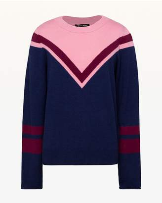 Juicy Couture Colorblock Chevron Pullover
