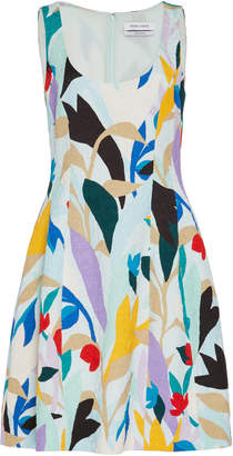 Prabal Gurung Printed Brocade Cotton-Blend Mini Dress