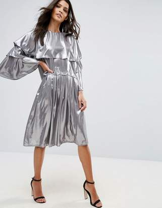 Love Pleated Midi Skirt