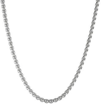 JCPenney FINE JEWELRY Mens Stainless Steel 18 4mm Box Chain